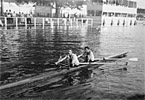 The Double Scull in practice at Henley