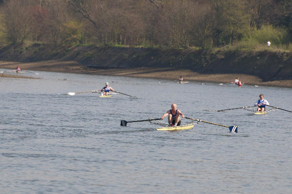 The leading scullers