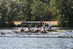 'D' coxless IV vs. Reading, at the finish