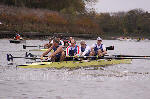 The winning Masters D coxless four