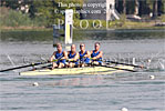 E coxed four racing