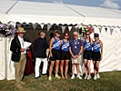 Women's novice four with their medals