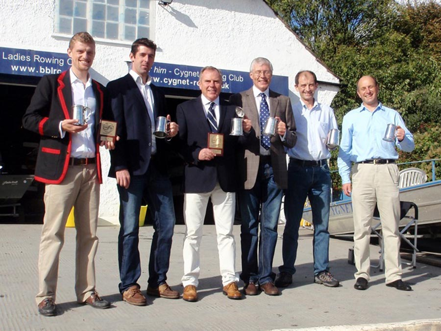 Winners of Eite Pairs, Masters E pairs and Masters E double sculls