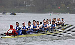 1st VIII closing on Fulham Reach RC