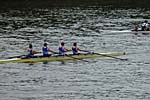 Winning Intermediate 3 coxed four