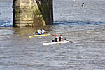 Alex Miller and Mike Ewing catching the Thames Elite pair