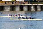 Winning Masters E coxless four