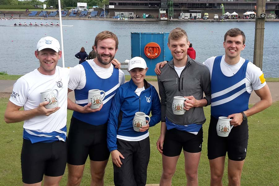 The Winning Senior Coxed Four