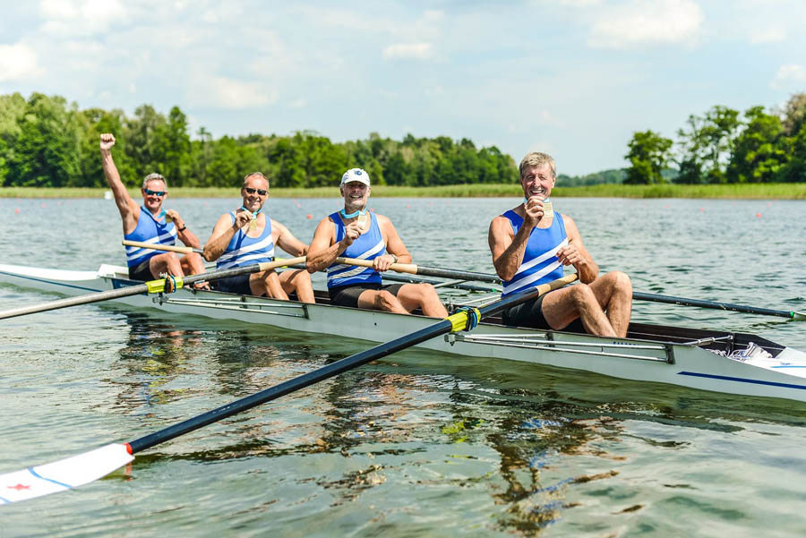 Winning Masters F coxless four