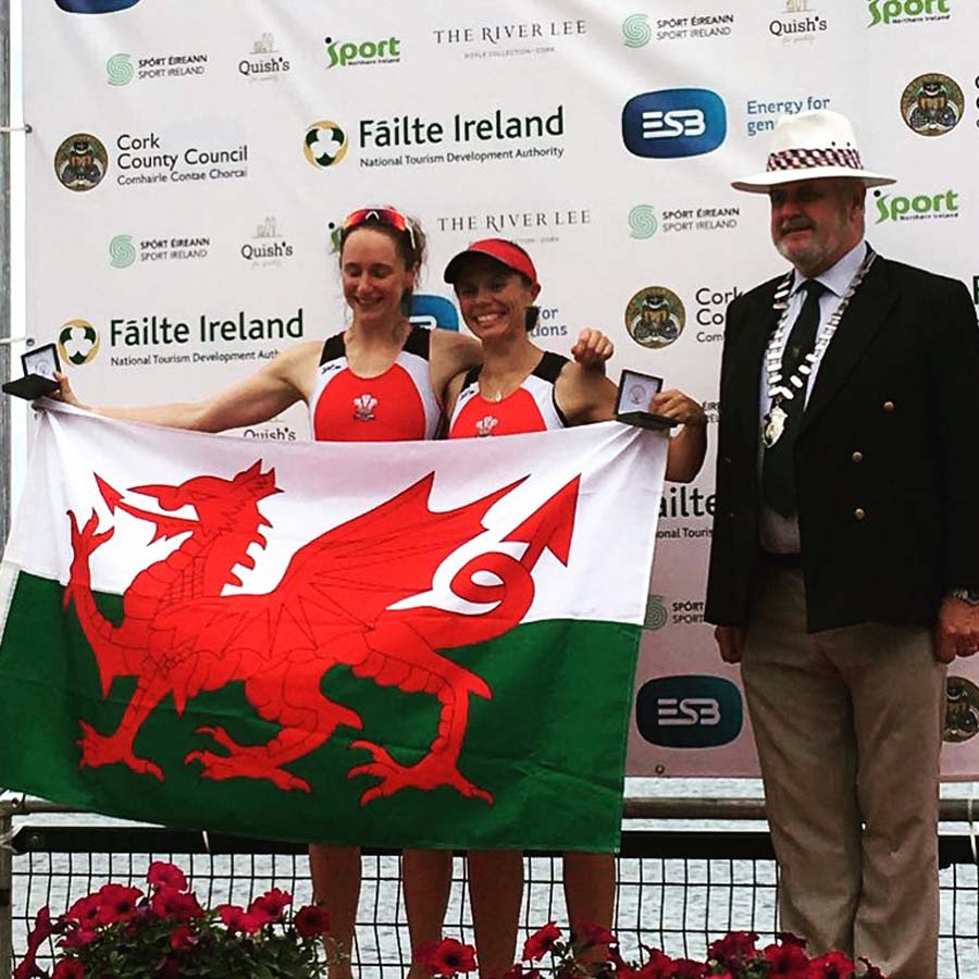Women's Lightweight double sculls winners